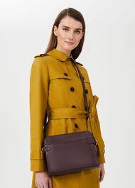 Kimberwick Leather Cross Body Bag, Wine, hi-res