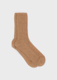 Mabel Cashmere Sock, Camel, hi-res