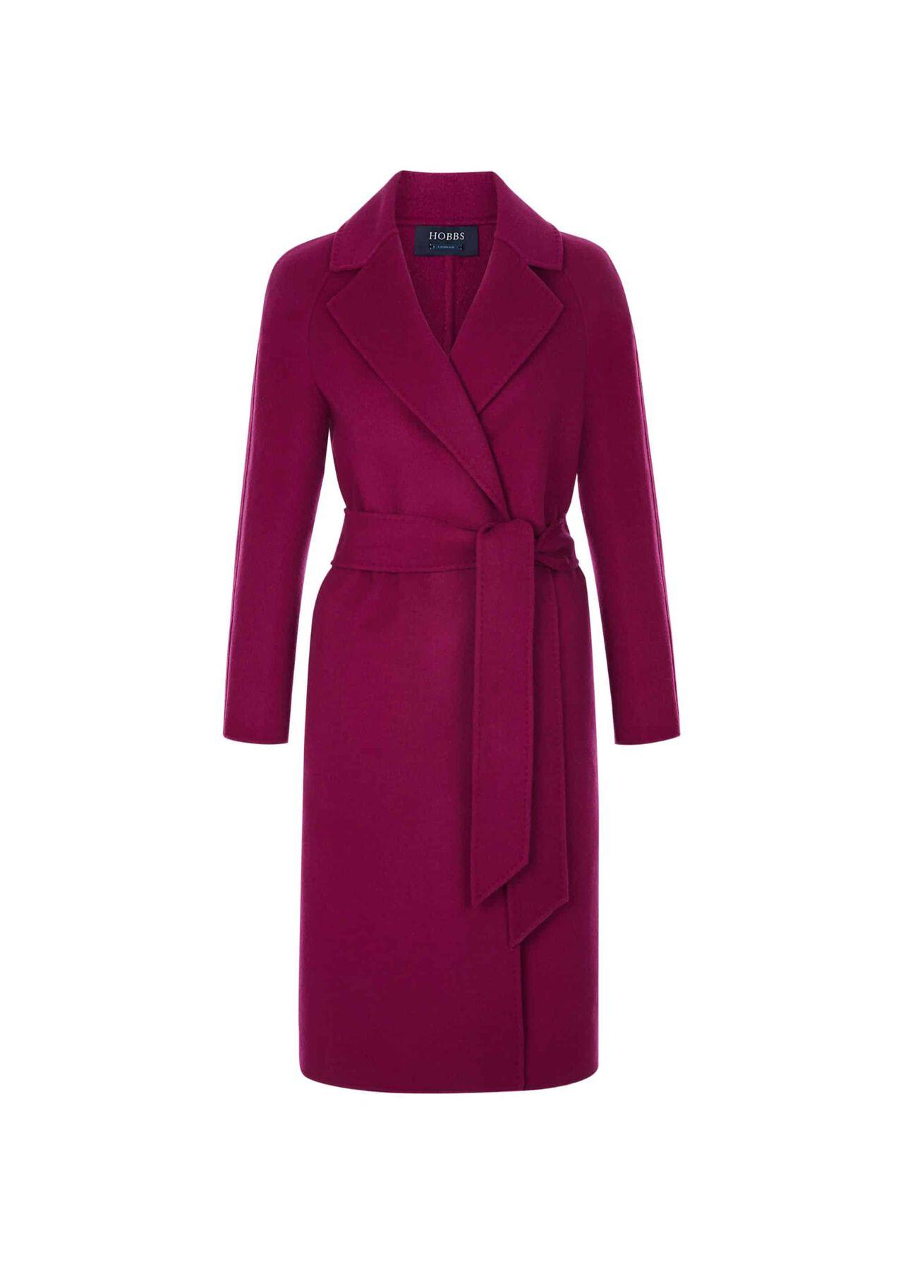 Rowena Wool Blend Coat Magenta