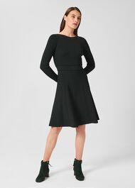 Tali Knitted Dress, Deep Green, hi-res