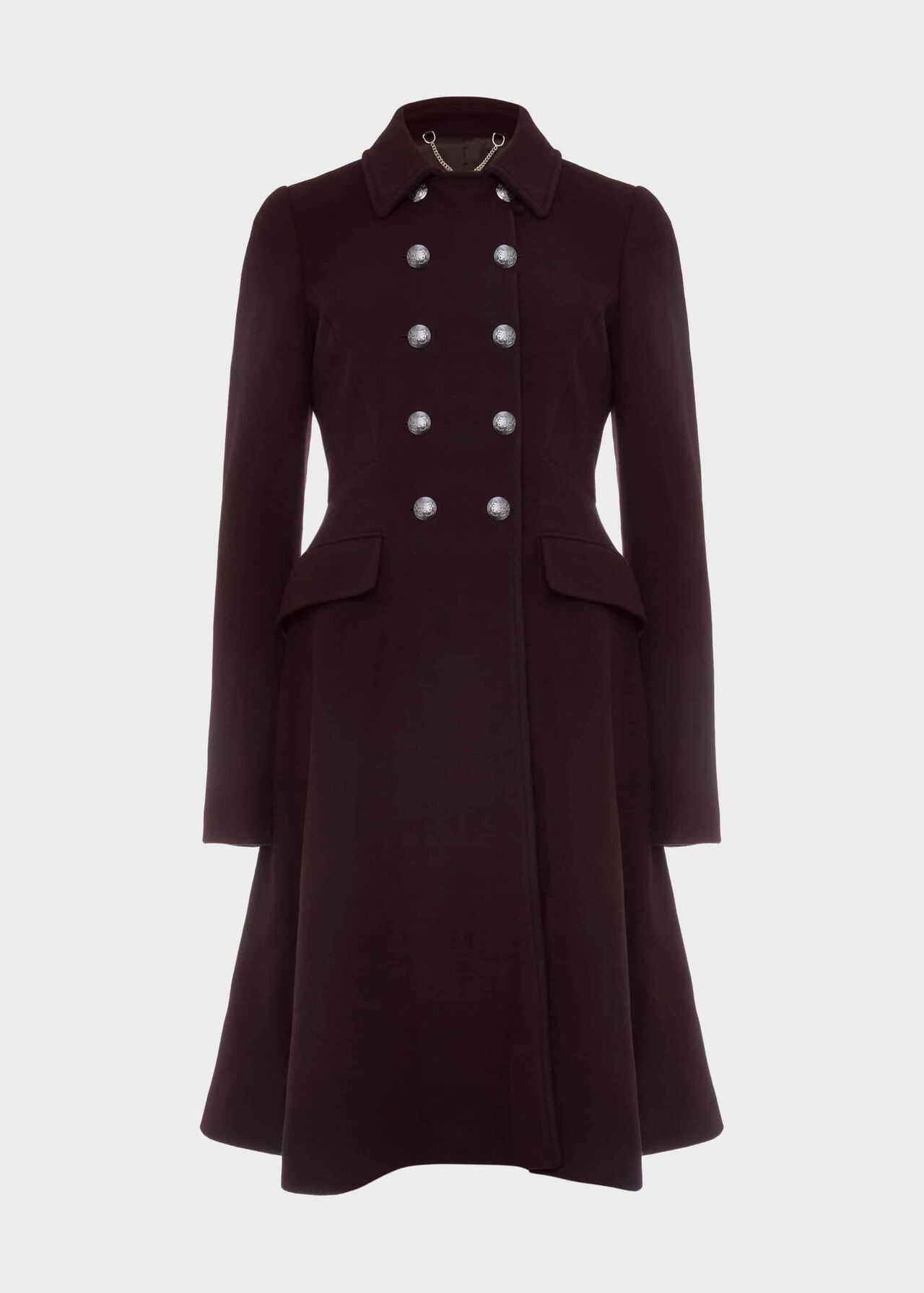 Francesca Wool Blend Coat Aubergine