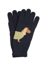 Dachshund Glove, Navy, hi-res