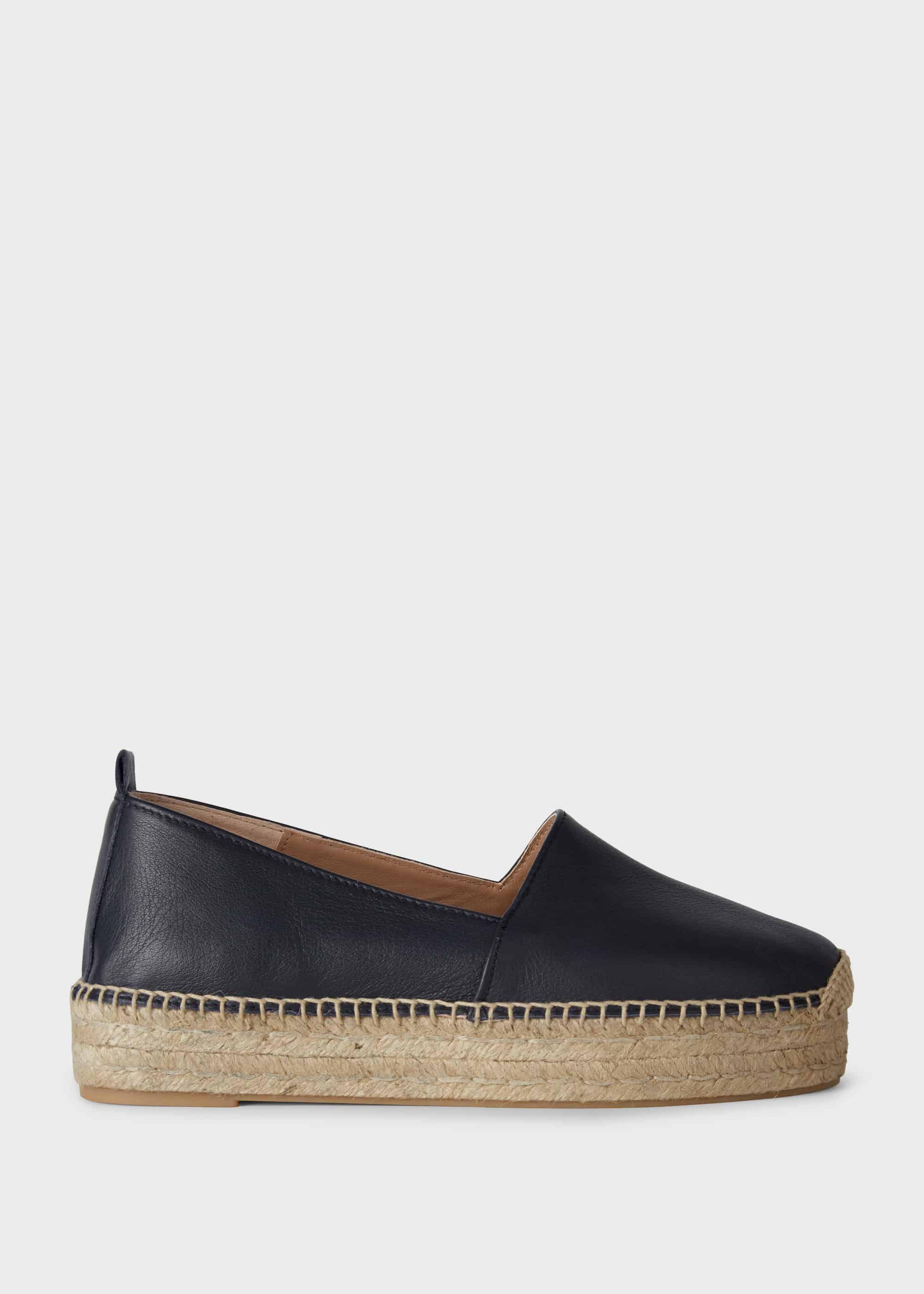 Various Sizes Hobbs Serena Fine Suede Black Mule Shoes RRP £149.