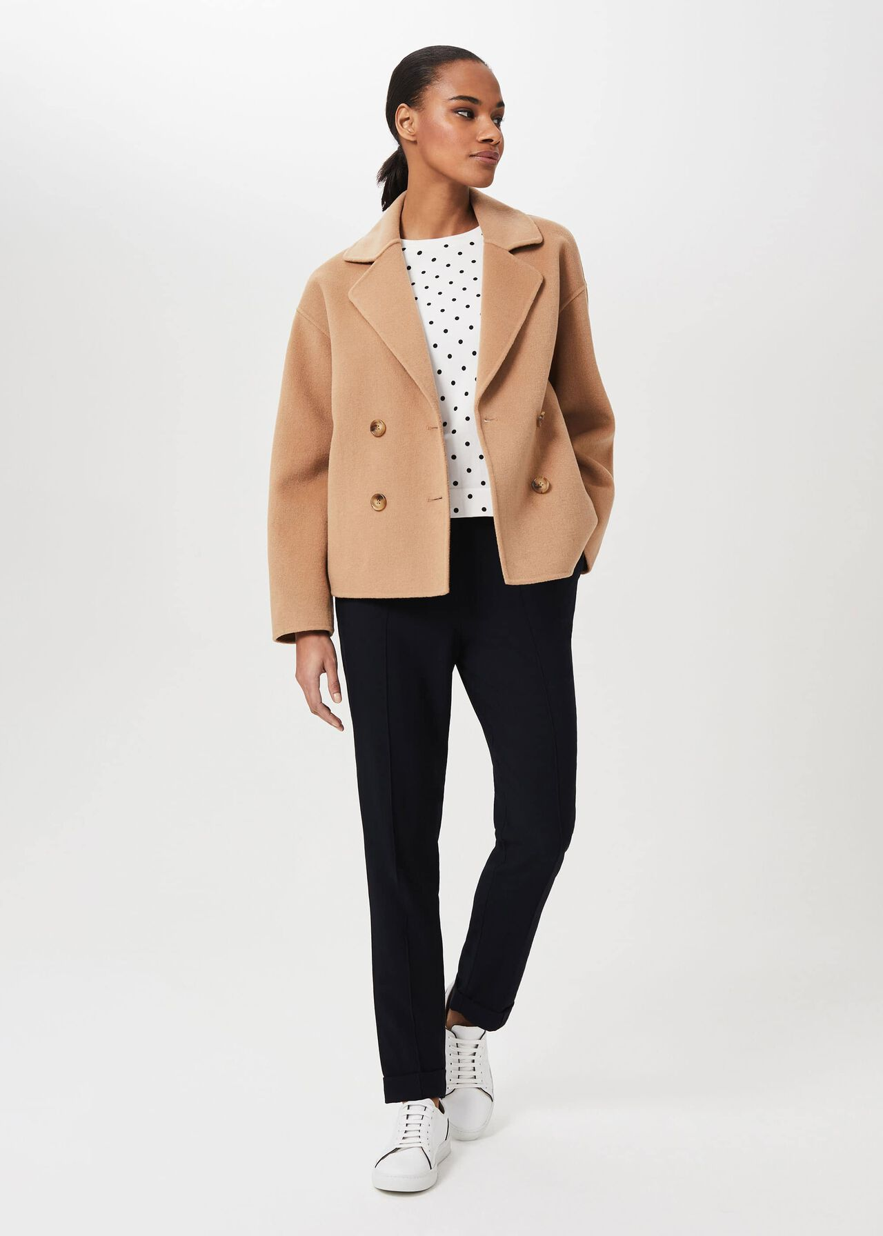 Rosanna Wool Blend Double Face Coat, Camel, hi-res