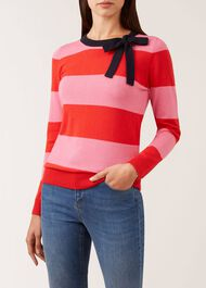 Effie Merino Wool Blend Sweater, Pink Red, hi-res