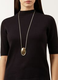 Alexa Necklace, Silver Gold, hi-res