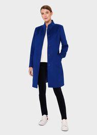 Mandy Wool Coat, Cobalt, hi-res