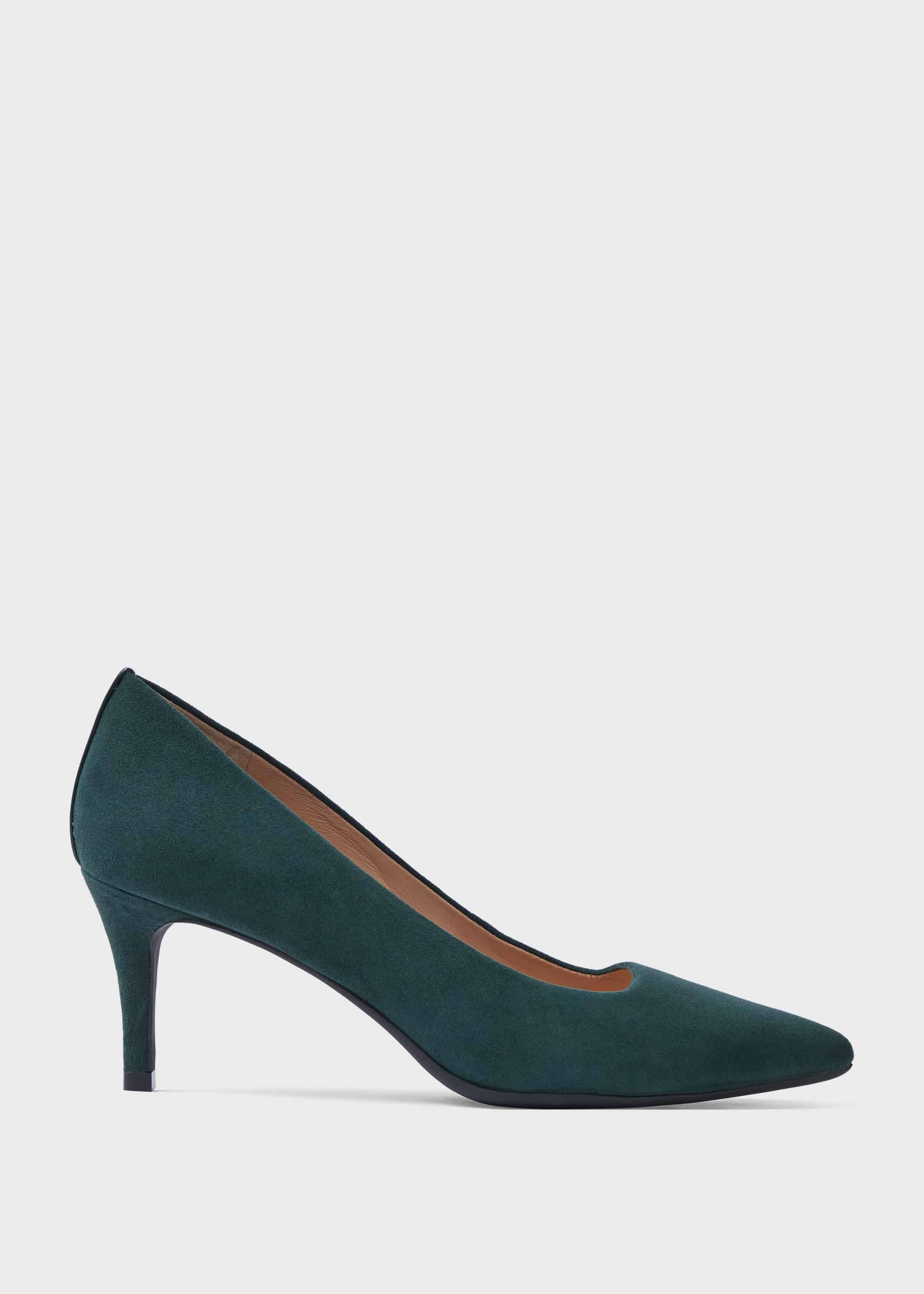 Amy Suede Stiletto Court Shoes | Hobbs