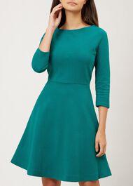 Telula Dress, Emerald Green, hi-res