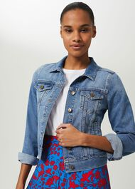 Mariam Denim Jacket, Blue, hi-res