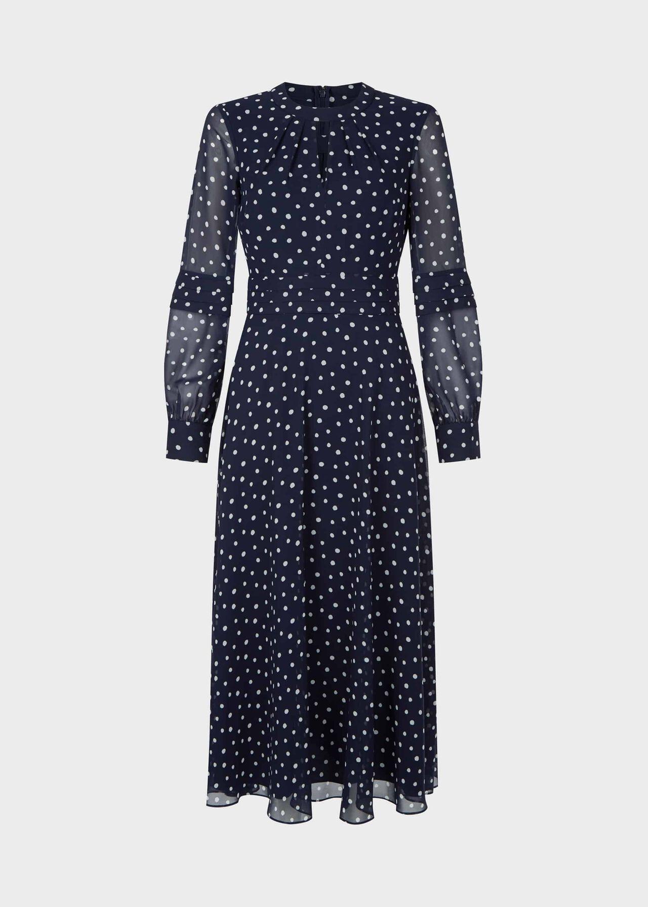 Piper Dress Midnight Ivory