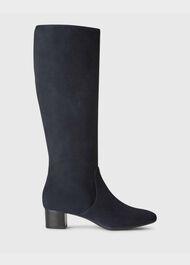 Sadie Knee Boot, Navy, hi-res