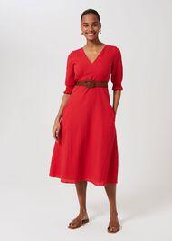 Tonicha Dress, Coral Red, hi-res