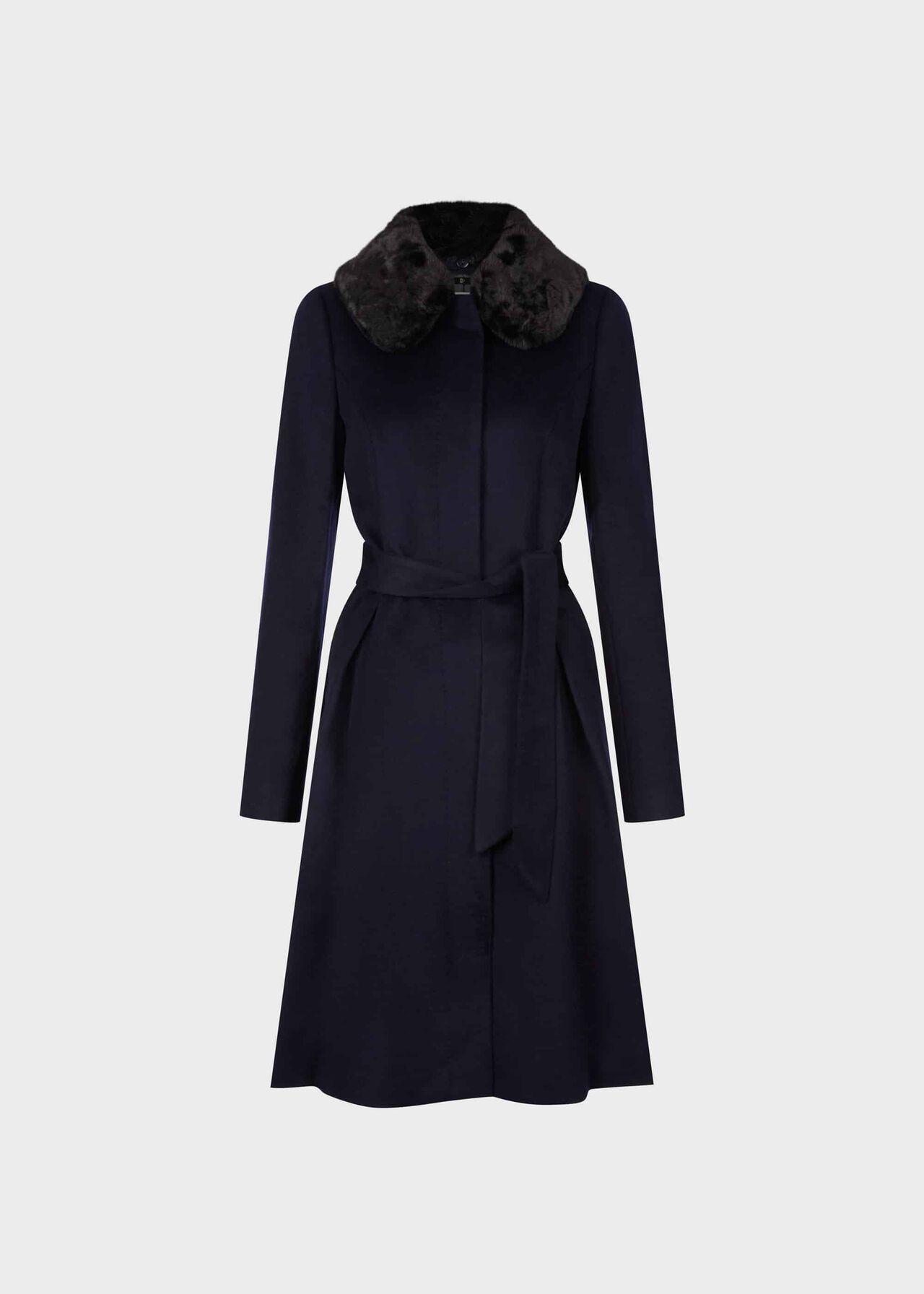 Edeline Wool Coat Navy