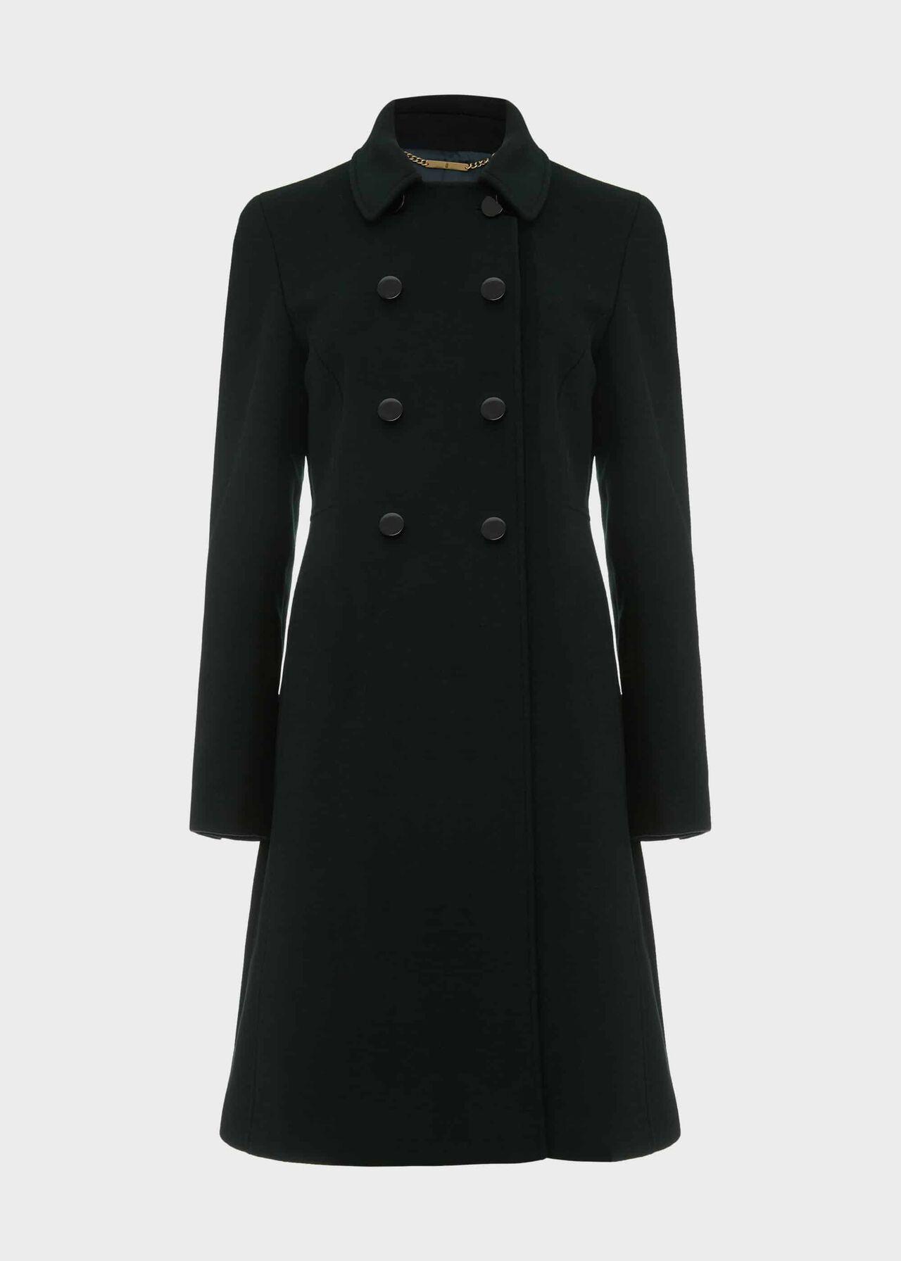 Sylvia Wool Blend Coat Fern Green