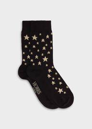 Star Single Sock, Black Gold, hi-res
