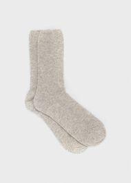 Mabel Cashmere Sock, Pale Grey, hi-res