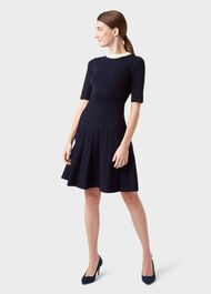 Aubrey Knitted Dress, Navy, hi-res
