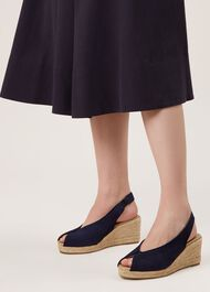 Katy Wedge Sandal, Navy, hi-res