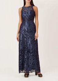 Gabrielle Maxi Dress, Navy, hi-res