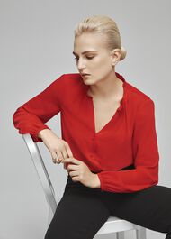 Gabi Blouse, Red, hi-res