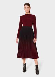 Petite Tasha Pleated Skirt, Black Merlot, hi-res