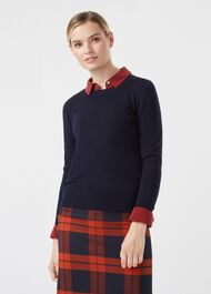 Penny Merino Wool Sweater, Navy, hi-res