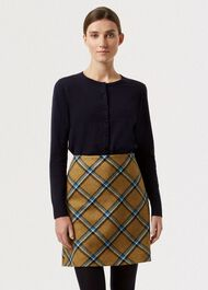 Elea Wool Skirt, Mustard Multi, hi-res
