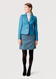 Hackness Wool Jacket, Kingfisher Blue, hi-res