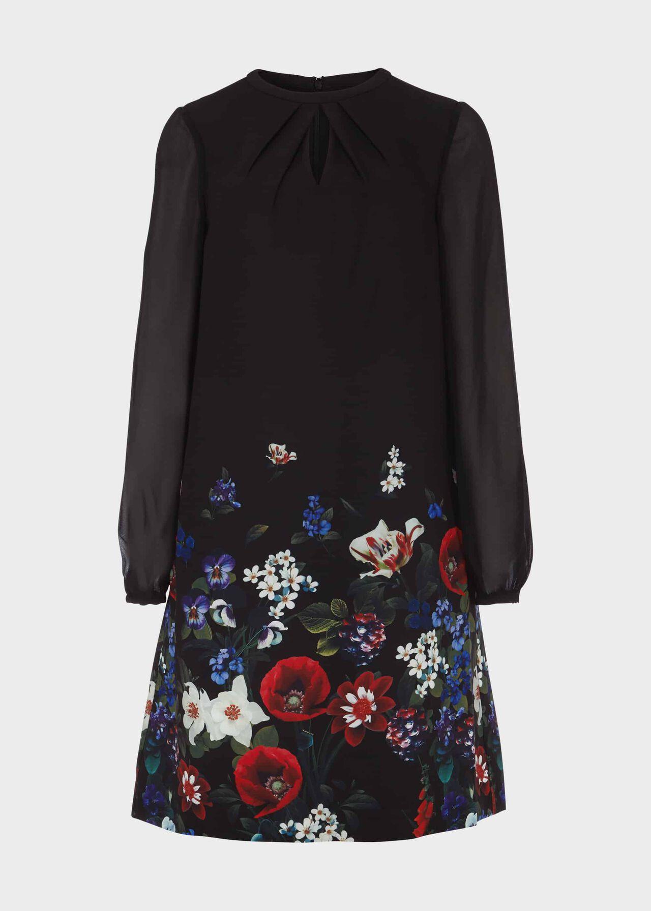 Aura Printed Dress Black Multi