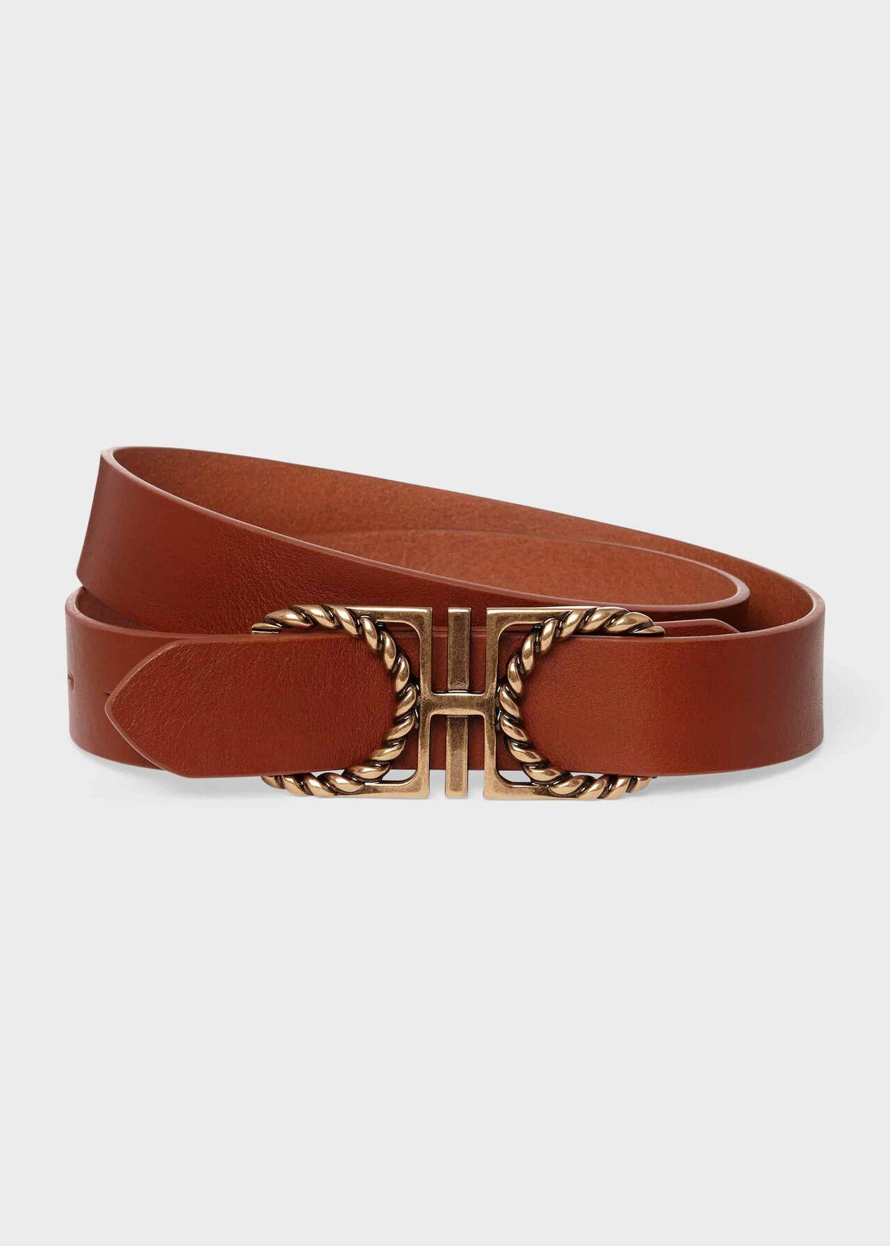 Tabitha Leather Belt, Tan, hi-res