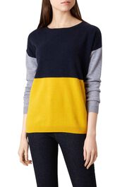 Sofia Wool Blend Sweater, Yellow Multi, hi-res