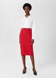 Beatrix Pencil Skirt, Scarlet Red, hi-res