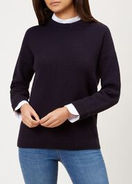 Connie Sweater, Navy, hi-res
