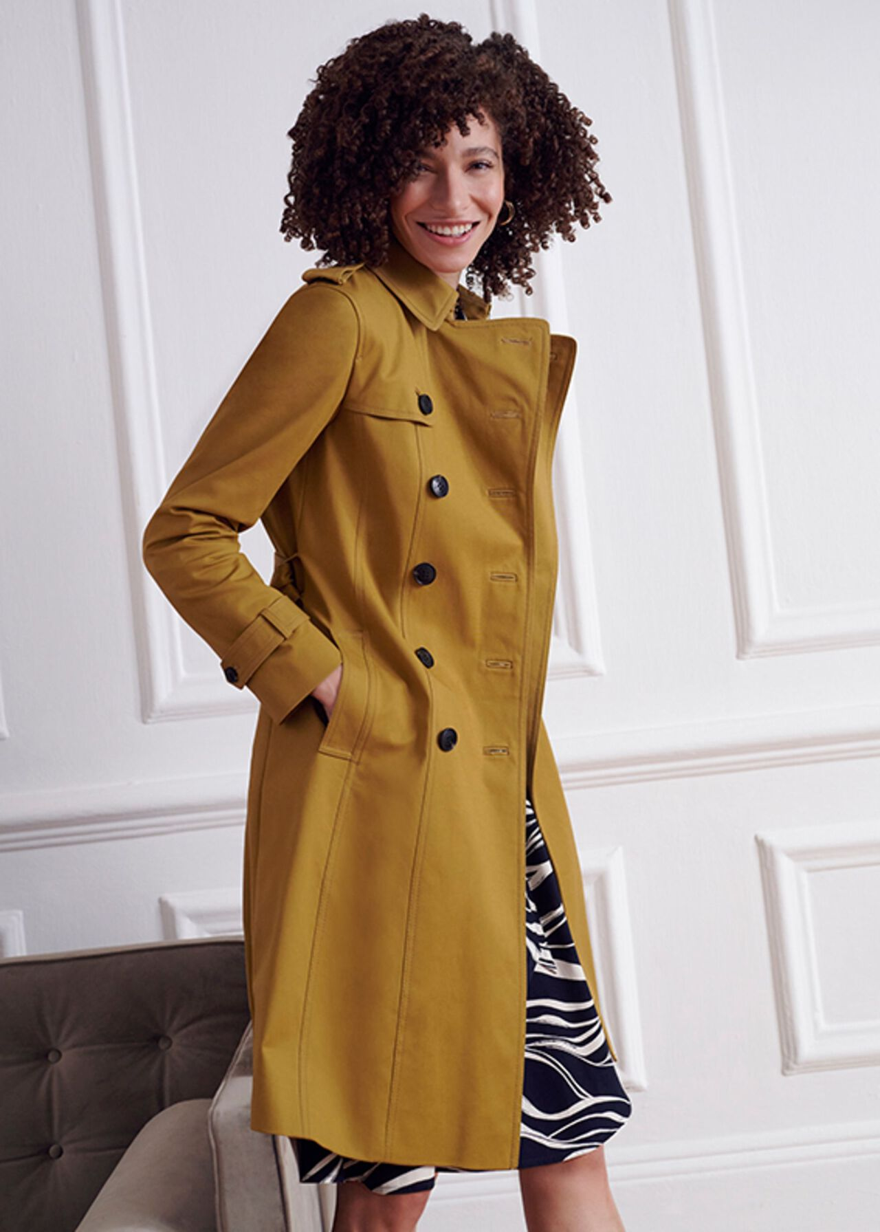 The Chartreuse Saskia Trench Coat Outfit, , hi-res
