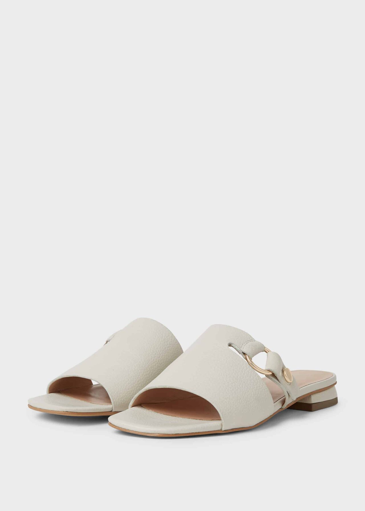 Lily Leather Sandals White