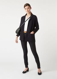 Lily Knitted Blazer, Navy, hi-res