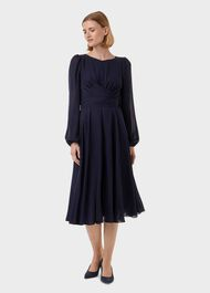 Sadie Fit And Flare Dress, Navy, hi-res