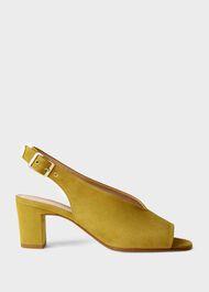 Kali Suede Block Heel Sandals, Dark Aurora, hi-res