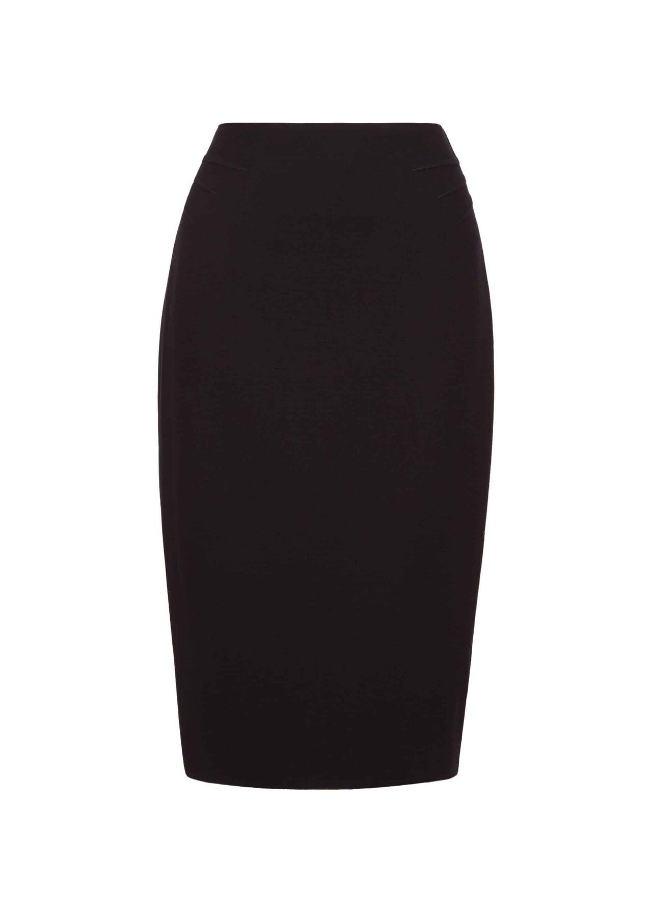 Alexandra Wool Skirt Navy