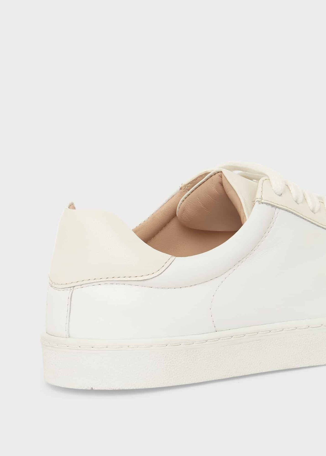 Arwen Leather Trainers , White, hi-res