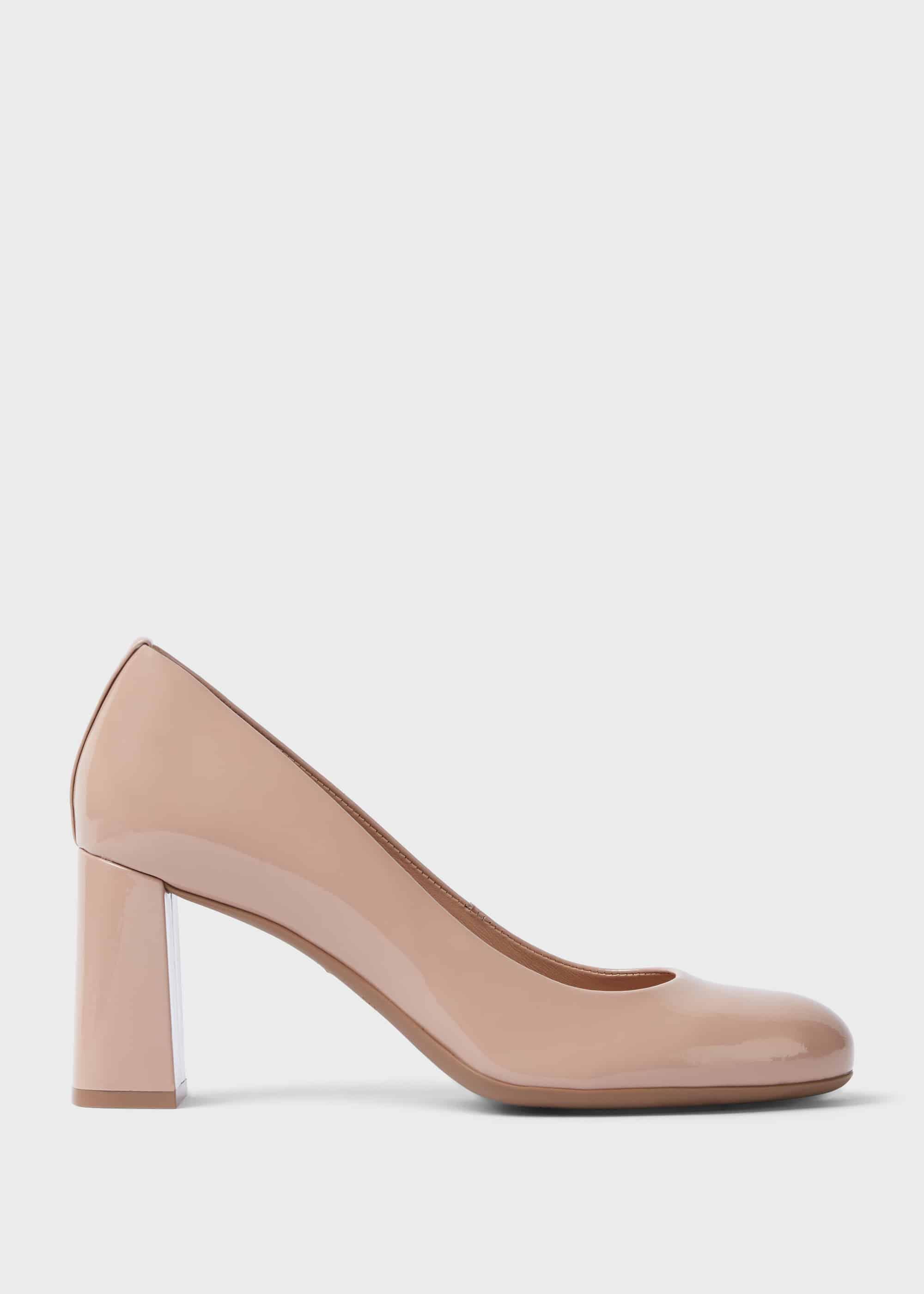 Sonia Suede Block Heel Court Shoes | Hobbs