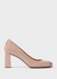 Sonia Suede Block Heel Court Shoes, Nude, hi-res