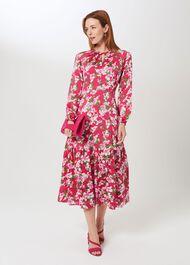Marilyn Midi Dress, Fuchsia Multi, hi-res