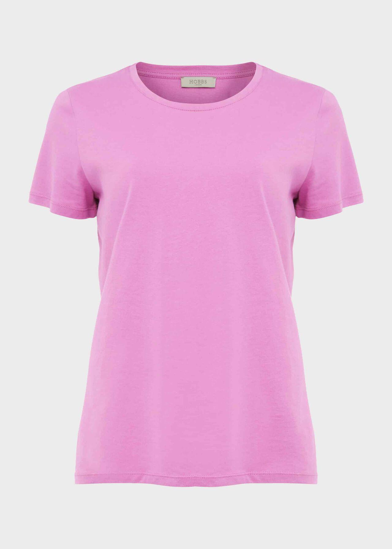Pixie Cotton T Shirt, Super Pink, hi-res