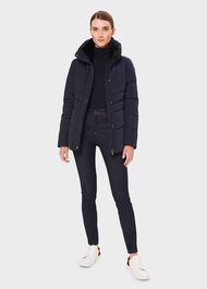Izzy Puffer Jacket, Navy, hi-res