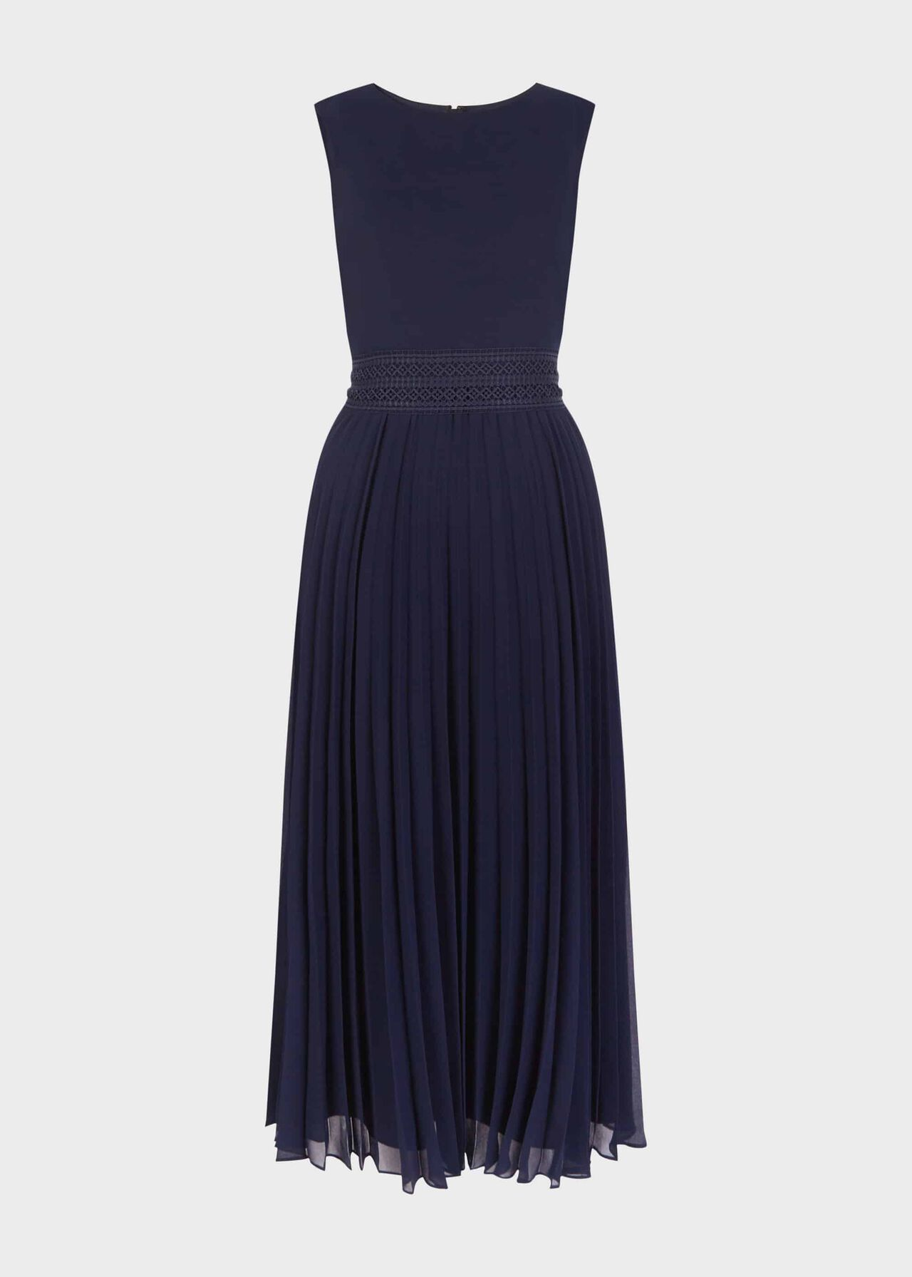 Bridgette Pleated Fit And Flare Dress Midnight