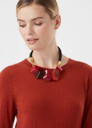 Hazel Necklace, Red, hi-res