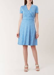 Darcie Dress, Blue White, hi-res