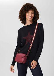 Pelham Leather Cross Body Bag, Berry Pink, hi-res